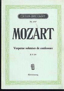 """Antiquarische Noten/songbooks """" Missa Brevis """" Kv 275 ~ Klavierauszug Mit Text Moderater Preis Musikinstrumente PüNktlich Mozart"""