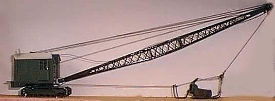Grúa Draga Bucyrus Erie  l9RB Kit 1 76 escala por modelos Langley