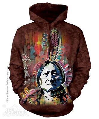 Sweat Jacke M Hoodie Kapuze Biker Western Indianer Wölfe Geist Wolf Paar Gr