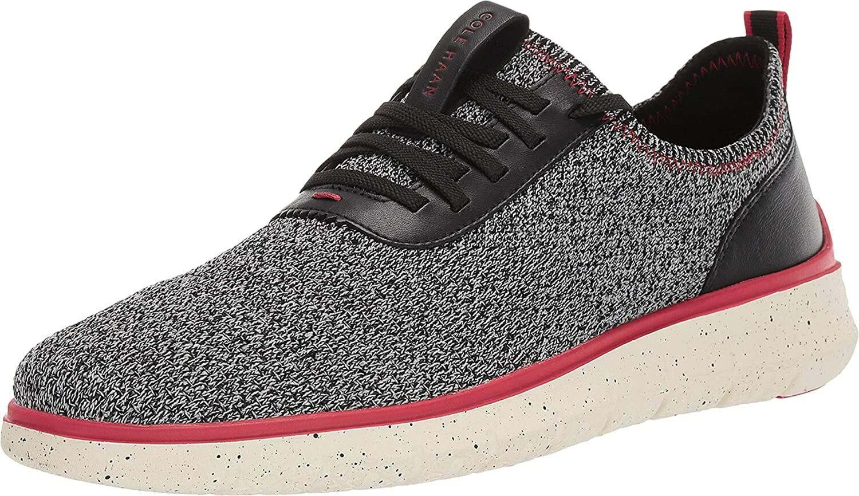 Cole Haan Zerogrand Stitchlite Sneaker - Black/Red Dahlia, Size 8.5 M [C31554]