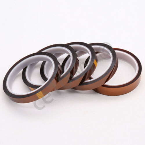 50mm High Temperature Polyimide Kapton Tape Adhesive Heat Resistant 33M 1 Roll