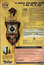 Publicité advertising 1976 La Pendule Hollandais Difor Besancon