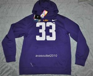 493a3a681d07 Image is loading Nike-LSU-Tigers-33-Player-Hoodie-Performance-Sweatshirt-