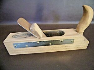 Vintage-Collectible-Wood-amp-Brass-Woodworking-Plane