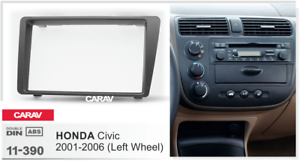 09311 2-din radio diafragma para Honda Civic 2001-2006 izquierda manillar//negro