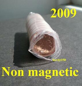 2009-MINT-SEALED-1-roll-of-Canadian-pennies-NON-MAGNETIC-RARE