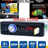 1131B 12V V.2.0 Bluetooth 1-Din Car Radio Stereo Head Unit Player MP3/USB/SD/AUX