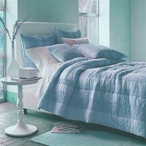 Quilt Comforter Casa by The Company Store 100% Cotton Light Blau Farbe Was  289