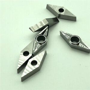 10Pcs CNC Inserts,Lathe Turning Tool for Aluminum Copper,VCGT160404-AK