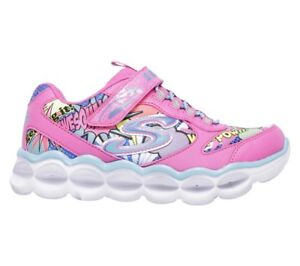 Skechers S LIGHTS LUMI LUXE Toddler Kids Neon Pink Multi Light Up ... 7df5046cc