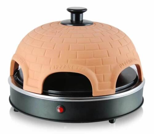 Pizza-Ofen Pizzarette für 6 Personen PO-110450 Terrakotta Miniofen Minipizza