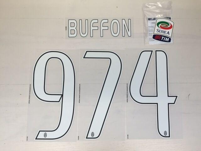 FW15 JUVENTUS BUFFON 974 RECORD PERSONALIZZAZIONE MAGLIETTA SHIRT PORTIERE  JUVE