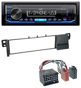 JVC-AUX-USB-Bluetooth-MP3-Autoradio-fuer-BMW-3er-E46-Rundpin-ab-1998