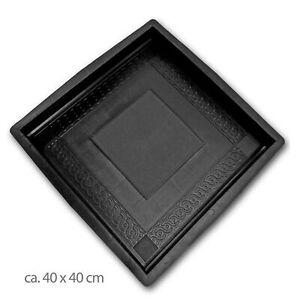 Schalungsform Plastikform Betongießform römische Ornament Terrassenplatten 40x40