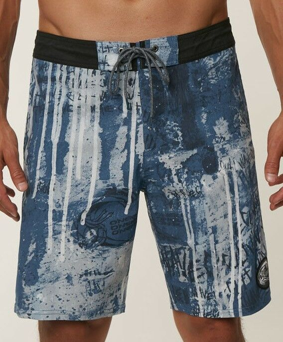 O'Neill WAVECULT CRUZER Mens Cotton Blend Boardshorts 32 bluee NEW 2018