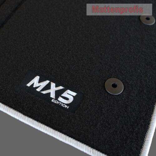 MP Velours Fußmatten Logo silber für Mazda MX-5 MX5 RC MZR ab Bj.2008-2012
