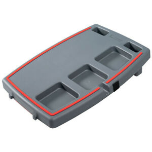 Stupid-Car-Tray-Personal-Multi-Function-Food-amp-Drink-Travel-Organizer-Gray-Red
