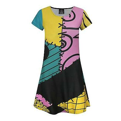 Official Nightmare Before Christmas Sally Costume Girl's Dress