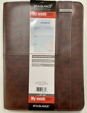 At A Glance Zipper Padfolio Planner Weeklymonthly Appointment Book Seaside