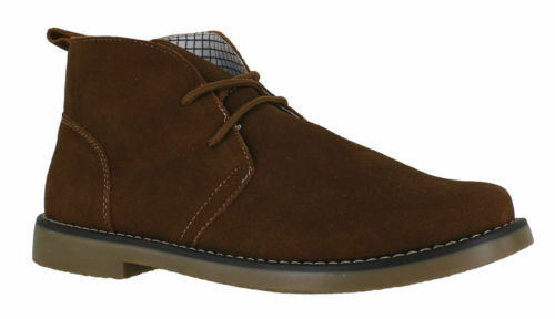 Mens Northwest Territory Suede Leather Desert Ankle Boots Black Brown