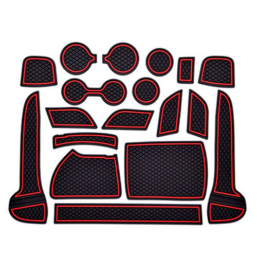 For Kia Sportage kx5 2017-18 Interior Door Mat Cup Pads Holder Gate Slot Pad