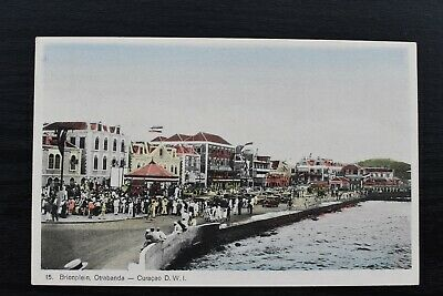 Vintage Postcard Brionplein Otrabanda Curacao Unposted Caribbean