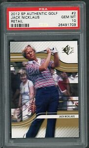 Jack Nicklaus 2012 Upper Deck SP Authentic Golf Retail Card #2 Graded PSA 10