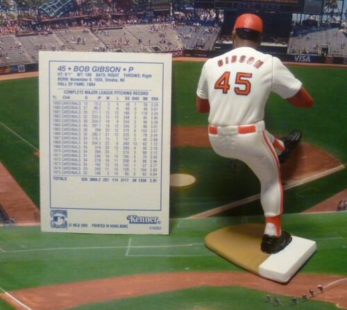 "Starting Lineup S.L.CARDINALS Figure /& Card /""COOPERSTOWN/"" 1995  BOB GIBSON"
