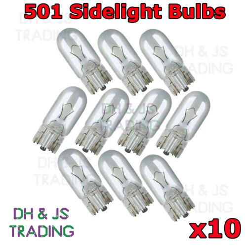 10 x 501 Sidelight Capless Bulb Bulbs Car Auto Van Ford Focus MK2 2005-2011