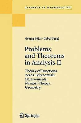 Problems and Theorems in Analysis II: Theory of Functions. Zeros....