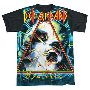 DEF-LEPPARD-HYSTERIA-Licensed-Adult-Men-039-s-Graphic-Band-Tee-Shirt-SM-3XL