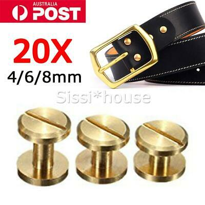 3~20PCS Belt Screw  Rivets Stud Head Leather Craft Chicago Nail Wallet Round
