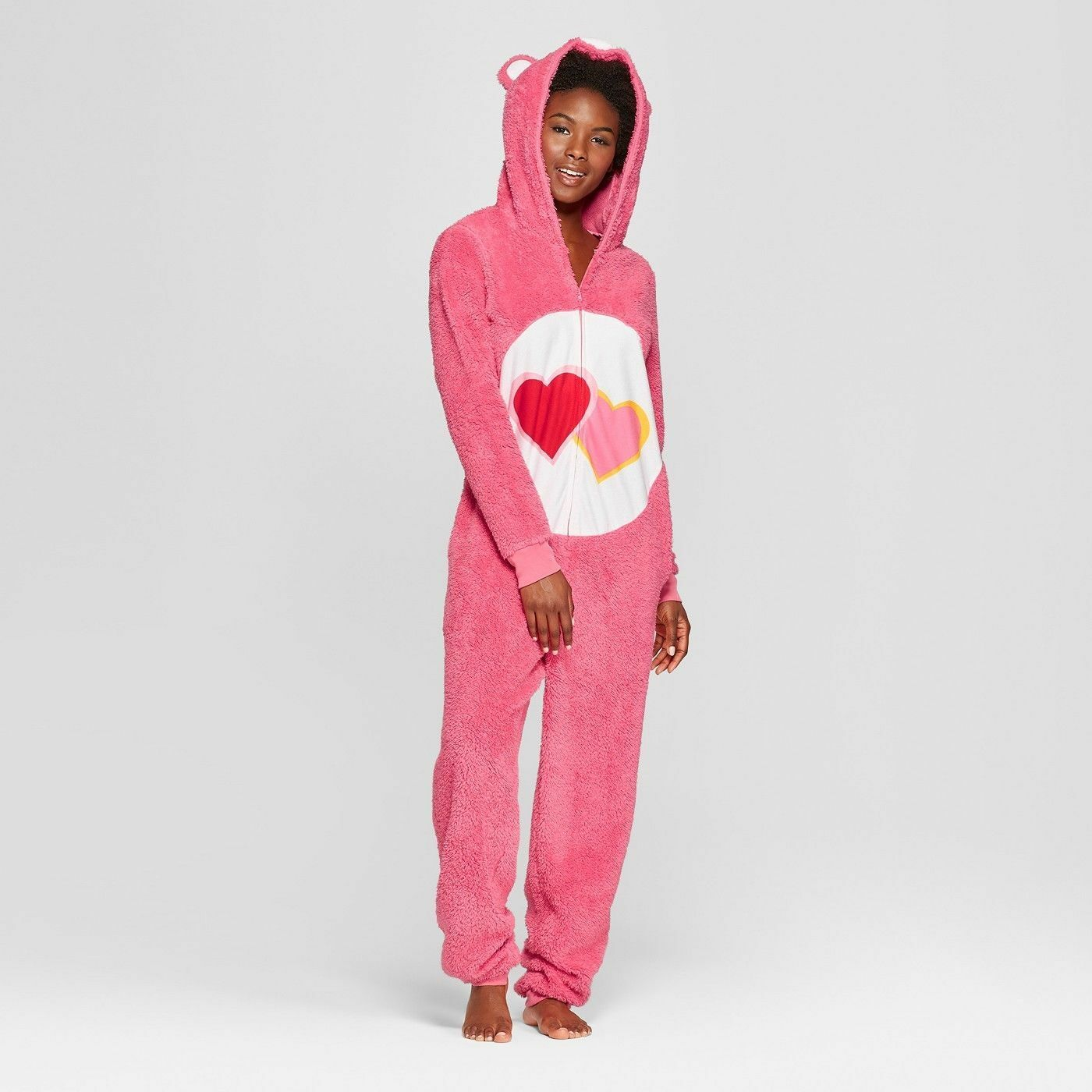 CARE BEAR  One Pc Union Suit Jumper Pajamas Ladies Women's XS NEW X-SMALL