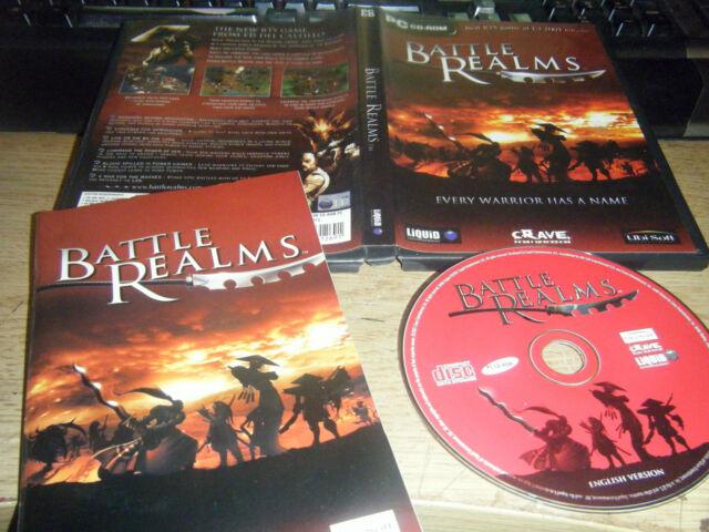 Battle Realms Slick 2001 RTS Original mit 92 Seiten Handbuch sehr guter Zustand