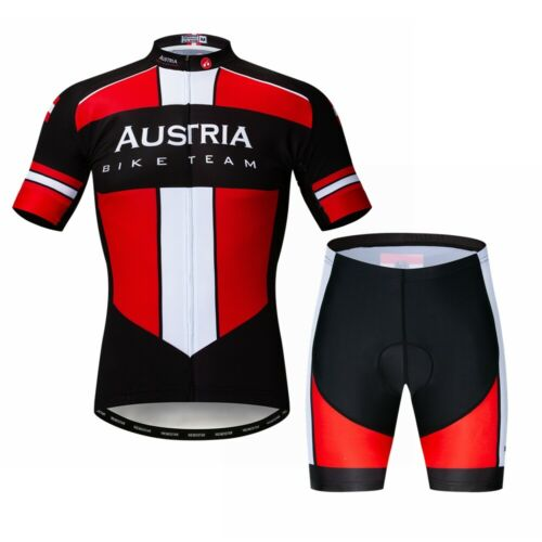 Men Cycling Jersey Sets Bike Summer Bicycle MTB Short Sleeve Suit with 5D Padded