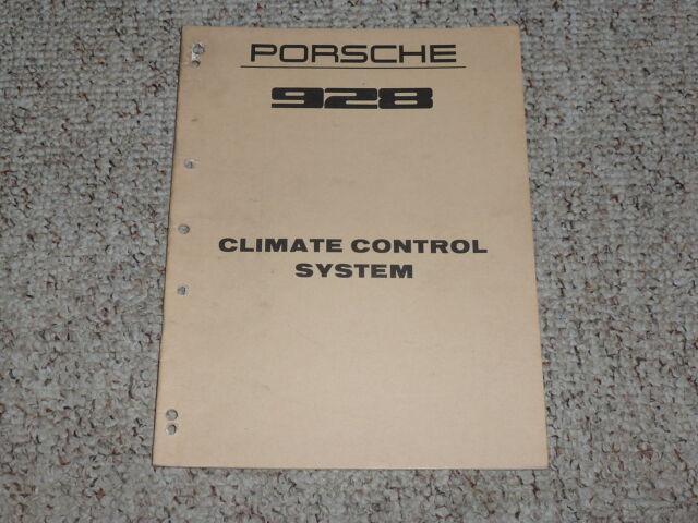 1978 Porsche 928 Climate Control Shop Service Repair