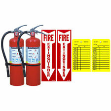 2 5 Lb Buckeye Abc Fire Extinguisher Withwall Hooks Signs And Inspection Tags