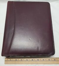New Listingfranklin Classic 175 Ring Burgundy Leather Zipper Plannerbinder Used