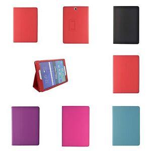 Para-Samsung-Galaxy-Tab-a-9-7-034-Varios-Colores-Pu-Funda-Cartera-Piel