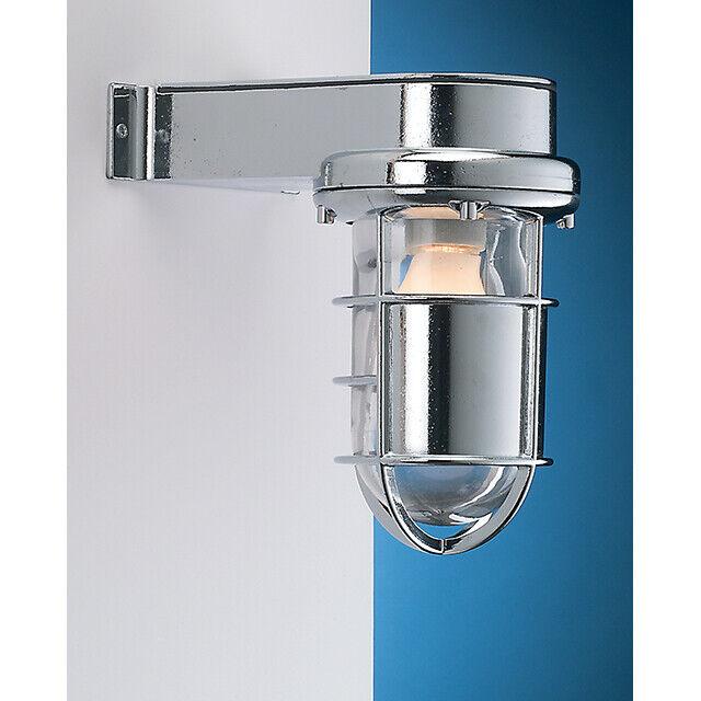 Wandleuchte Wandlampe aus Messing Chrom Silber E27 S Geschliffen Marken Feder E