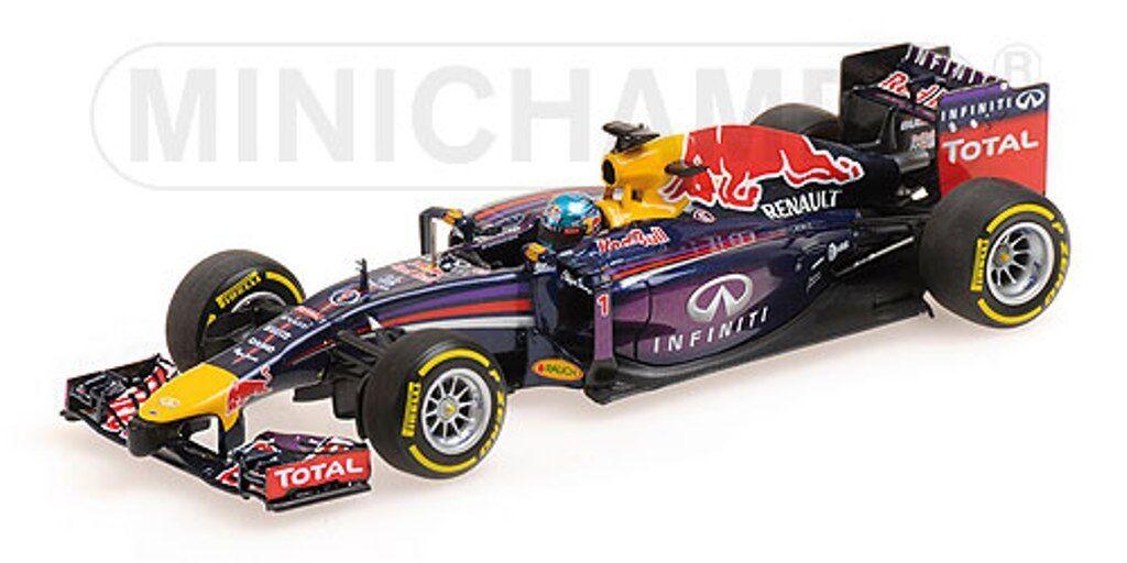 venta caliente Minichamps Minichamps Minichamps 410 140001 Infiniti rojo Bull RB10 F1 Modelo de Coche S Vettel 2014 1 43rd  n ° 1 en línea