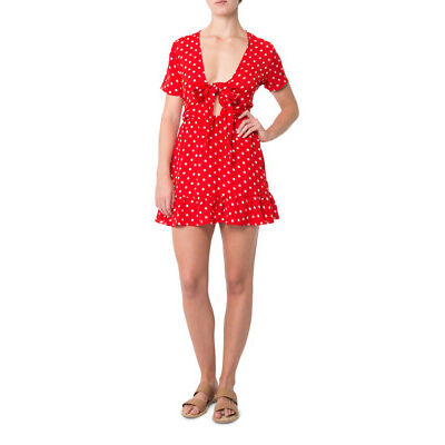 NEW Glamorous Spotty Love Dress Red