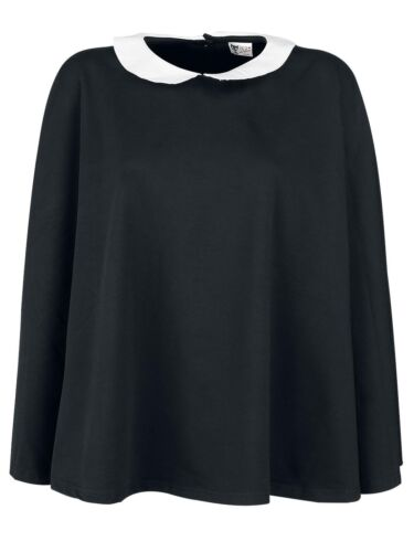 Pussy Deluxe Collar Poncho schwarz