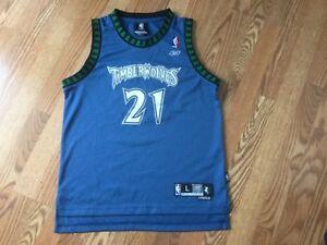 best cheap fb739 559d2 Details about Kevin Garnett Blue Timberwolves Jersey NBA Reebok Authentic  Large +2 Extra Long