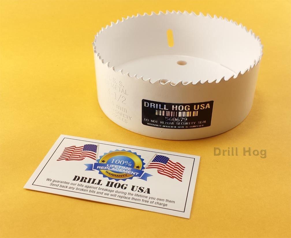 """Drill Hog 5-1//4/"""" Hole Saw Bi-Metal 5-1//4/"""" Cutter HI-Moly Lifetime Warranty USA"""