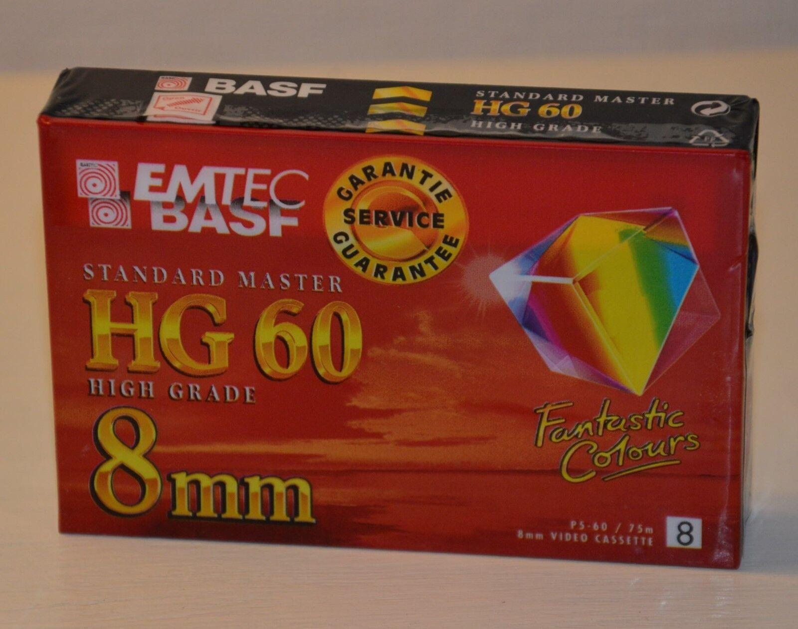 K7 video tape hg 60 BASF emtec 8mm standard master high grade virgin new