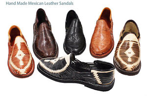 3da2fd16eea7 Details about Men s Closed Toe Huarache Sandals ALL COLORS MEXICAN  HUARACHES - Leather Sandals