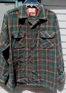 Détails sur Vintage années 60 LEVIS Vert Laine Plaid à manches longues chemise homme taille L par levis afficher le titre d'origine