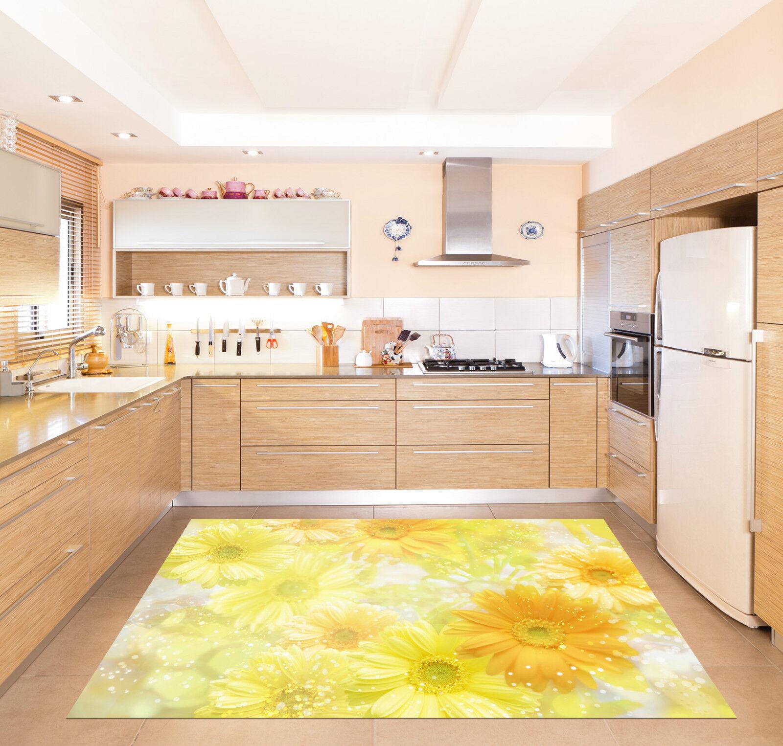 3D Flash Flowers Kitchen Mat Floor Murals Wall Print Wall Deco AJ WALLPAPER CA