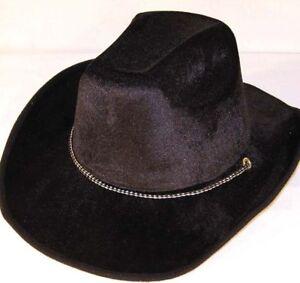 f270305511437 6 pc BLACK VELVET COWBOY HATS western hats cowboys hat costume dress ...
